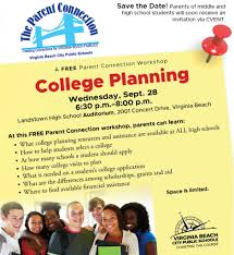 free parent connection workshop features college planning the core