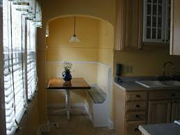 Kitchen Nook Ideas Contemporary Kitchen With Pale Orange Breakfast Nook And Corner