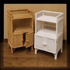 Bathroom Wicker Furniture Wicker Shelf Unit With Doors Via Wickerparadise Wicker