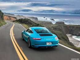 porsche 2017 960 2017 porsche 911 carrera s color miami blue us spec rear