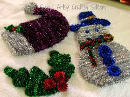 easy sparkly pipe cleaner ornaments