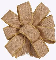 burlap wired ribbon 9 1 5 wired burlap ribbon 25yd