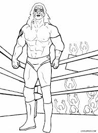 wrestling coloring pages 7955