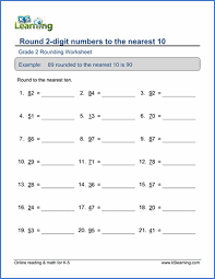 grade 2 place value and rounding worksheets free u0026 printable