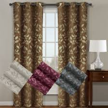 Curtain Panels Claire Paisley Blackout Weave Grommet Curtain Panels Set Of 2