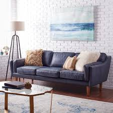 beatnik oxford leather blue sofa navy loft pinterest living
