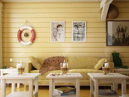 interior design fabulous yellow country living room with wooden