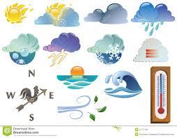 Weather Map Symbols Weather Symbols Stock Photo Image 27777750