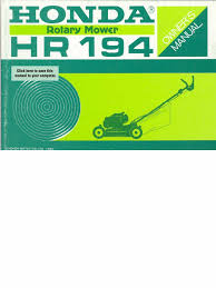 honda hr194 owners manual gasoline carburetor