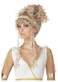 curly halloween wigs athenian goddess wig