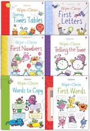 wipe clean learn to write 10 books collection set for children