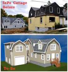gambrel style sopo cottage exterior 1906 style expanded and updated for today