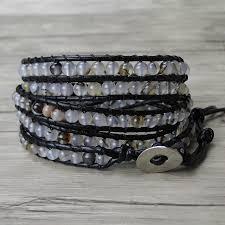 black leather wrap bracelet images Buy leather wrap bracelet boho bead bracelet jpg