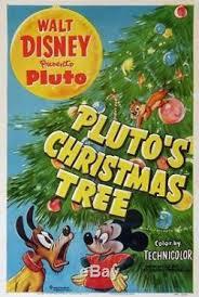 plutos christmas tree mickey mouse disney animation 1952 1 sheet