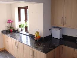 Black Granite Kitchen Countertops by What Color Cabinet Goes With Black Granite My Home Design Journey