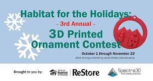 deck the halls with 3d printed ornaments 3d design contest from