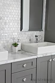 a marble inspired ensuite bathroom budget friendly too gray