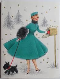 1950s hallmark lovely scottie at the mailbox vtg