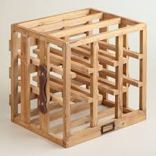 Dining Room Table With Wine Rack Wood Crate Wine Rack World Market