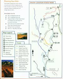Utah State Parks Map by Snow Canyon State Park Maplets