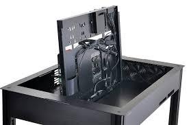 boitier ordinateur de bureau lian li dk q2 évolution en vue pour le boîtier pc en forme de bureau