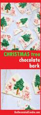 peppermint white chocolate christmas tree bark for an easy dessert