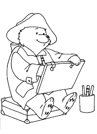 download paddington bear colouring pages