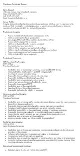 9 warehouse technician resume sample resumes sample resumes