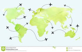 Flight Routes Map by World Map Flight Routes Stock Photo Image 28091220