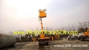 18m bucket boom truck isuzu man lift truck powerstar trucks youtube