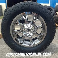 jeep wheels and tires chrome custom automotive packages off road packages 20x9 fuel