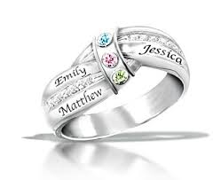 rings with birthstones and names a mothers embrace personalized family ring with names birthstones