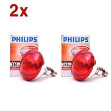 philips infrared lamp br125 ir red 250w 230 250v e27 es heat bulb