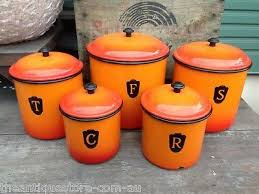 orange kitchen canisters 392 best canisters images on vintage kitchen boxes