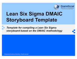 Six Sigma Excel Templates Lean Six Sigma Dmaic Project Template Powerpoint