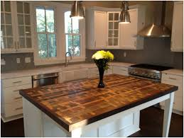 wood tops for kitchen islands kitchen island wood countertop decoration