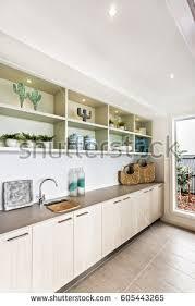 kitchen interior 3d illustration stock illustration 587094200