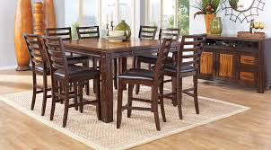 chocolate dining room table adelson chocolate 7 pc counter height dining room dining room sets