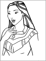pocahontas walt disney princess disney coloring pages color free