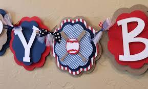 vintage baseball happy birthday banner all american navy blue