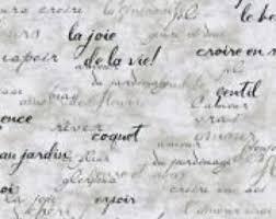 french script l shade french script fabric etsy