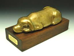 dog urns elongated sleeping dog urn by steve shelby