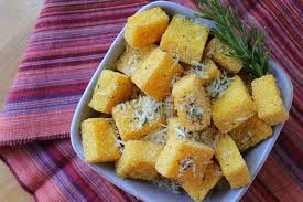 cuisine polenta polenta chips with rosemary and parmesan recipe three years on the