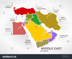Middle East Maps by Middle East Map Concept Infographic Template Stock Vector