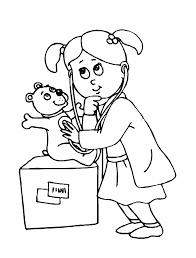 kid women doctor coloring sheet printable doctor coloring