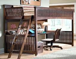 bunk beds with desk underneath image of metal full loft bed with
