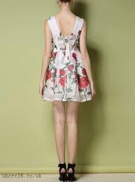 women u0027s floral mini dress white bold red rose print chiffon