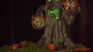 lighted spooky tree halloween decoration sku 65a33 plow