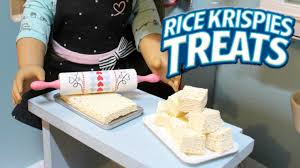 diy american doll rice krispies youtube