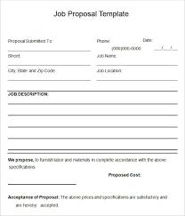sample job proposal templates